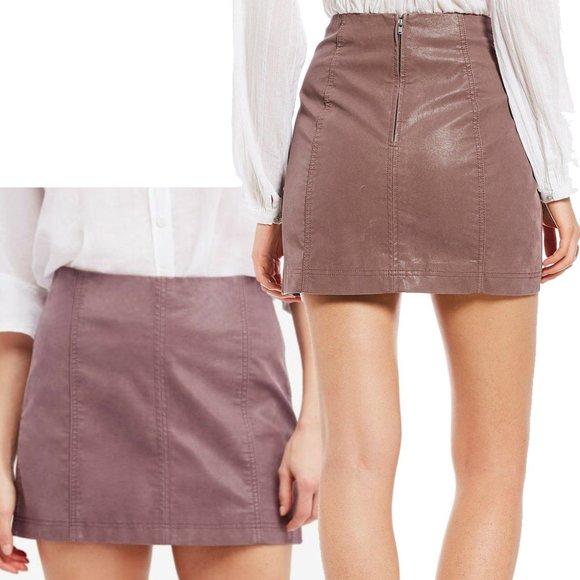 Free People Dresses & Skirts - Free People 4 Mauve Femme Skirt Vegan Suede